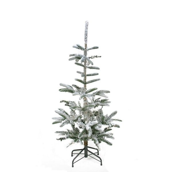4.5' Flocked Noble Fir Artificial Christmas Tree - Unlit