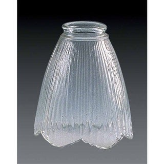 """Volume Lighting GS-143 5.5"""" Height Clear Etched with Frost Accent Glass Cone Cei"""