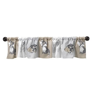 Bedtime Originals Gray Little Rascals Window Valance
