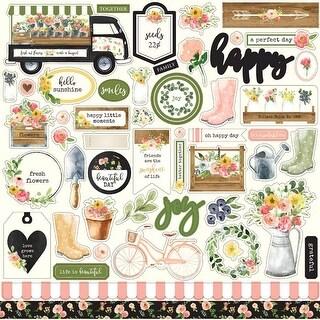 "Elements - Spring Market Cardstock Stickers 12""X12"""