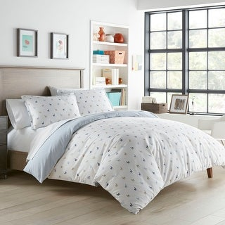 Link to Poppy & Fritz Llamas Cotton Blue Duvet Cover Set Similar Items in Duvet Covers & Sets