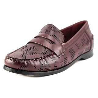 Cole Haan Pinch Grand Penny Women Round Toe Leather Burgundy Loafer