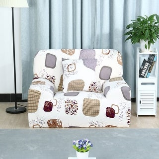 Unique Bargains Flower Print Stretch Pattern 10 Chair Cover - #13