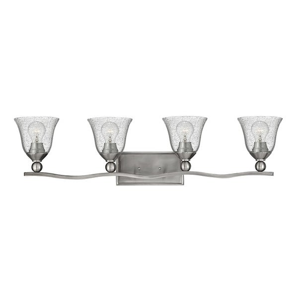 Hinkley Lighting 5894-CL 4-Light Bathroom Fixture from the Bolla Collection