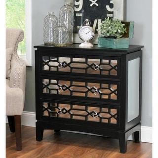 Aspire Home Accents 4332 Jasmine 30-1/2 Inch Wide 3 Drawer Wood Dresser with Mir