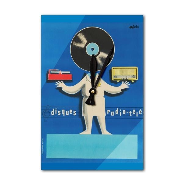 Disques Radio - Tele - Beric 1950 - Vintage Ad (Acrylic Wall Clock) - acrylic wall clock