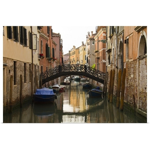 """""""Italy, Venice, Scenic view of bridge above canal"""" Poster Print"""