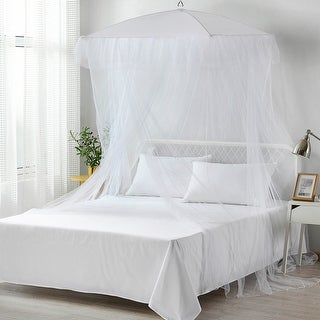 Link to Sultana Square Collapsible Umbrella Sheer Mosquito Bed Canopy Similar Items in Bed Canopies