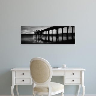 Easy Art Prints Panoramic Image 'pier, Manhattan Beach Pier, Manhattan Beach, Los Angeles, California' Canvas Art