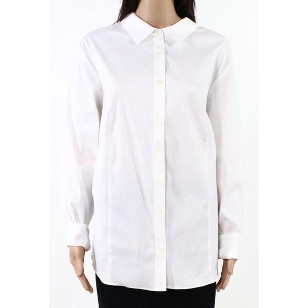 Shop Charter Club Womens Top White Size 20W Plus Button