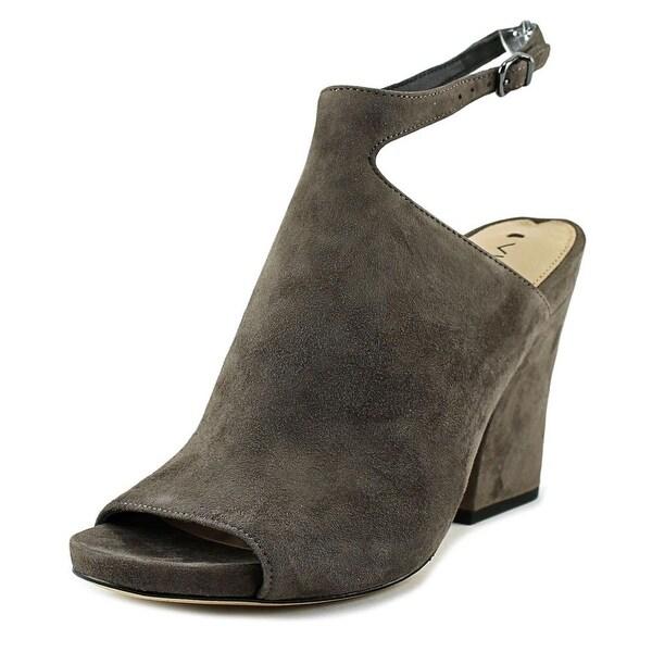 Via Spiga Prim Women Open-Toe Suede Gray Slingback Heel
