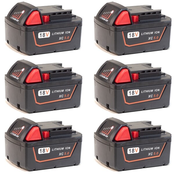 Shop Replacement for Milwaukee M18 Battery - 48-11-1850 5000mAh (6