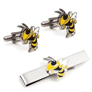 Georgia Tech Yellow Jackets Cufflinks and Tie Bar Gift Set