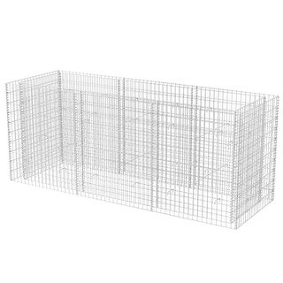 """vidaXL Gabion Planter Steel 106.3""""x35.4""""x39.4"""""""