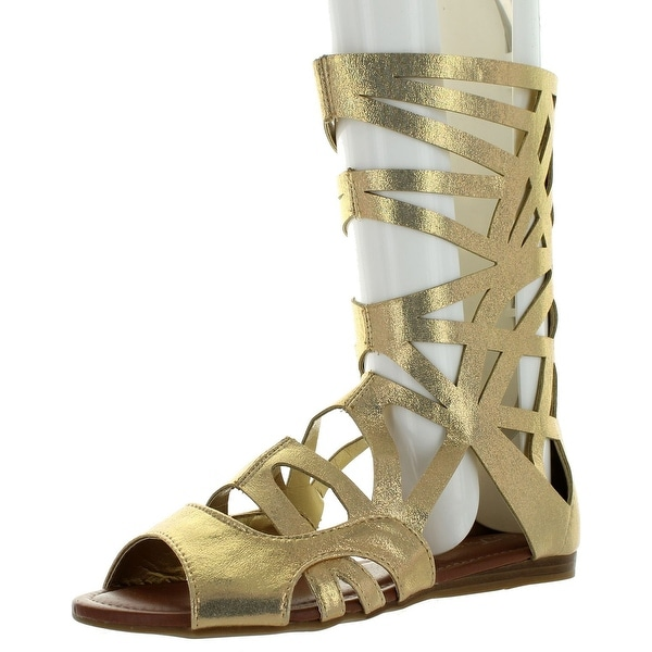 Forever Link Women's Sonia-83 Gladiator Sandals - Gold