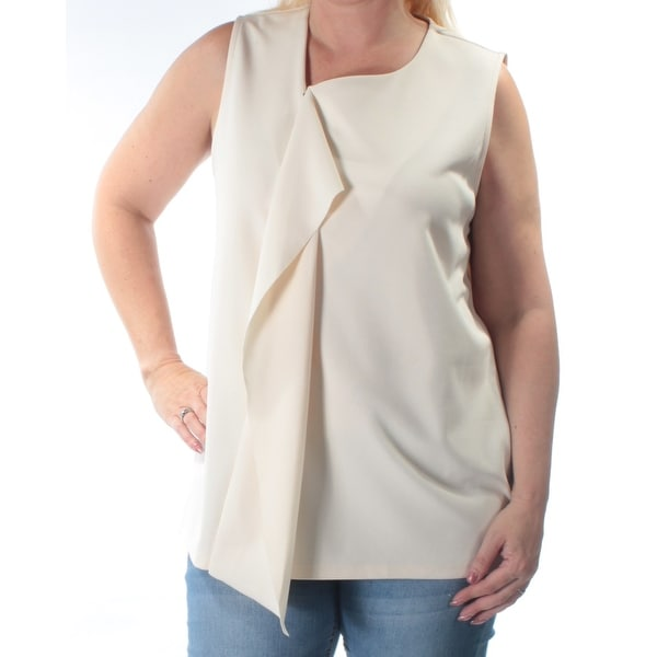 71ec55a30a998b Shop ALFANI Womens Ivory Sleeveless V Neck Vest Wear To Work Top Size  L -  Free Shipping On Orders Over  45 - Overstock - 21305950