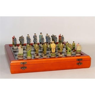 WWII Germany Men On Cherry Stained Chest Themed Chess Set