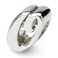 Sterling Silver Reflections Letter O Script Bead (4mm Diameter Hole)