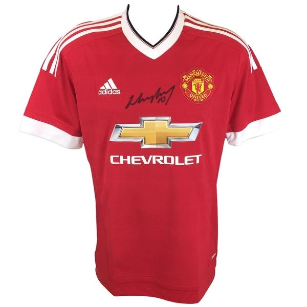 61ccecf17f7 Shop Wayne Rooney Signed 2015 16 Manchester United Soccer Jersey SI+A1 COA  - Free Shipping Today - Overstock.com - 21175732