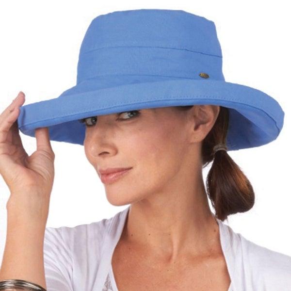 Women's Protective Big Brim Cotton Hat