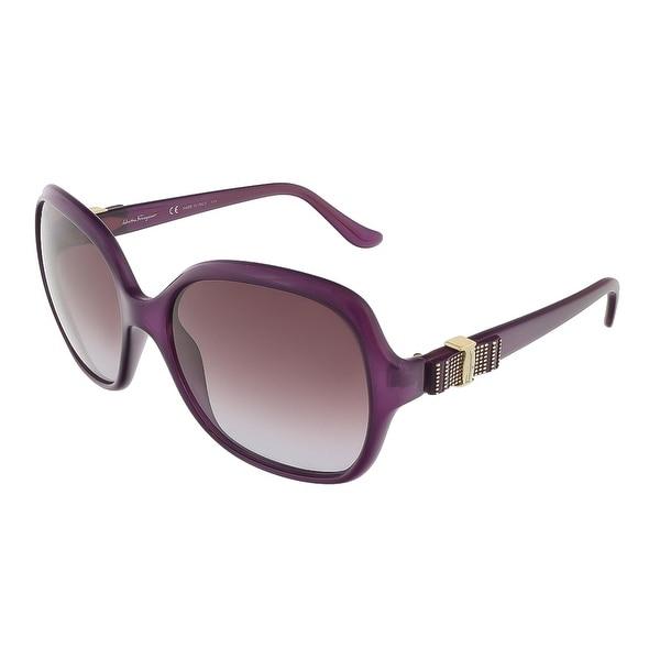 Salvatore Ferragamo SF761S 513 Purple Oversized Square sunglasses