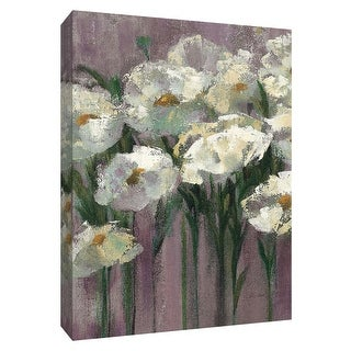 """PTM Images 9-154122  PTM Canvas Collection 10"""" x 8"""" - """"Anemones by the Lake Purple II"""" Giclee Flowers Art Print on Canvas"""