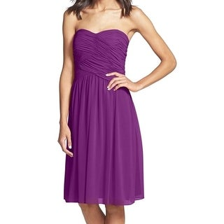Donna Morgan NEW Purple Women's Size 14 Ruched Empire Waist Dress