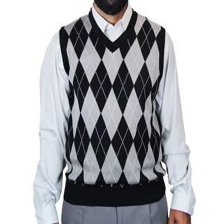 Men's Big and Tall Jacquard Argyle Sweater Vest (SV-245BM)