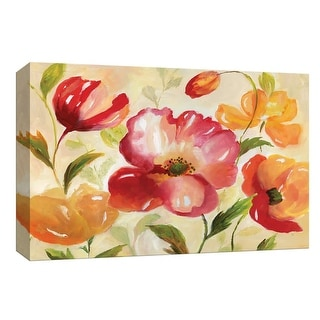"""PTM Images 9-148203  PTM Canvas Collection 8"""" x 10"""" - """"Jardin Rouge"""" Giclee Flowers Art Print on Canvas"""