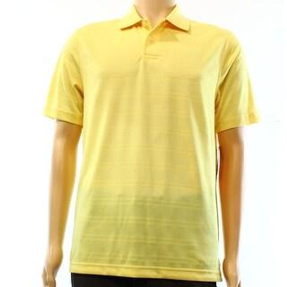 John Ashford Yellow Mens Size Large L Polo Rugby Textured Shirt