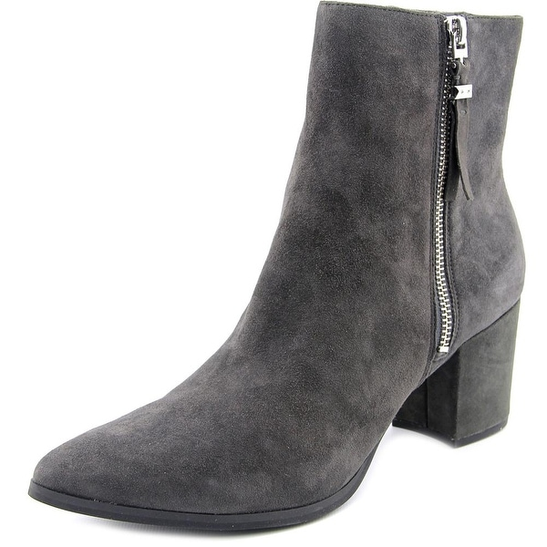 Michael Michael Kors Dawson Mid Bootie Women Pointed Toe Suede Gray Bootie