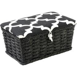 B&W Top -Sewing Basket Rectng