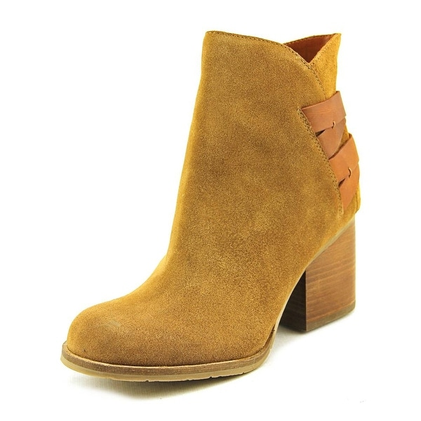 Mia Heritage Genessa Women Round Toe Leather Tan Ankle Boot