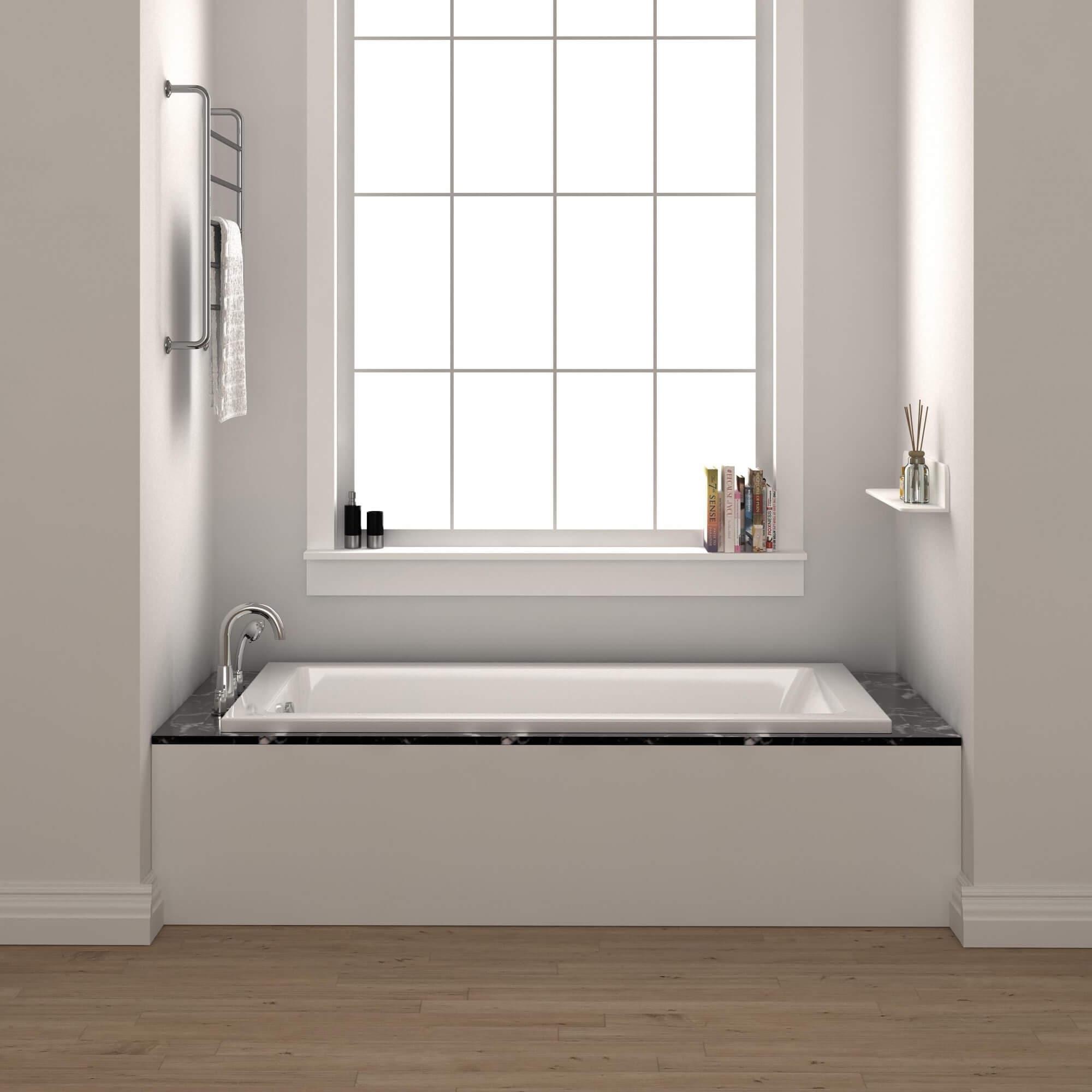 Shop Black Friday Deals On Fine Fixtures Drop In Soaking Bathtub Fiberglass Acrylic Material Overstock 11111602