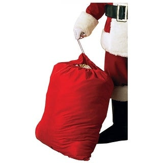 Velour Santa Toy Bag Adult Costume Accessory