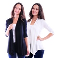 Simply Ravishing Women's Basic 3/4 Sleeve Open Cardigan (Size: Small-5X) - Thumbnail 14