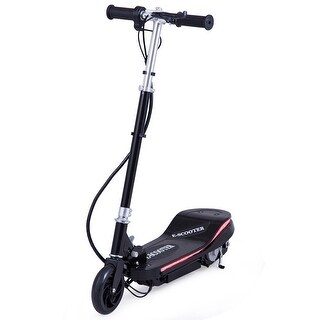 Gymax Folding Rechargeable Electric Scooter Ride On Outdoor For Teens w LED Lights - Black