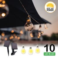 Early Edison Solar Powered LED String Light Bulbs