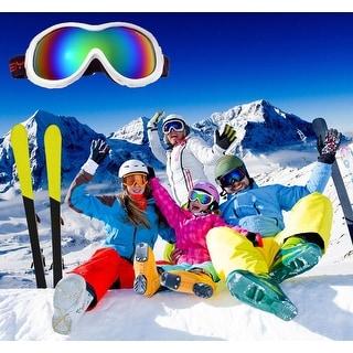 AGPtek Kids Junior Professional Snowboarding Snow Ski Goggles Windproof Anti Fog White - SIZE