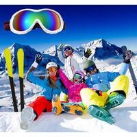 AGPtek Kids Junior Professional Snowboarding Snow Ski Goggles Windproof Anti Fog White