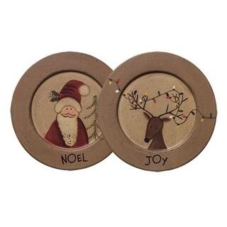 Noel Santa and Joy Reindeer Plate