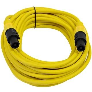 SEISMIC AUDIO 12 Gauge 25 Foot Yellow Speakon to Speakon Speaker Cable 25'