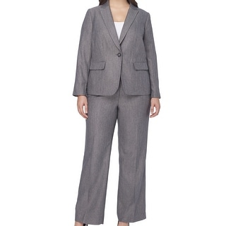 Tahari By ASL NEW Gray Women's Size 20W Plus Notched Pant Suit Set