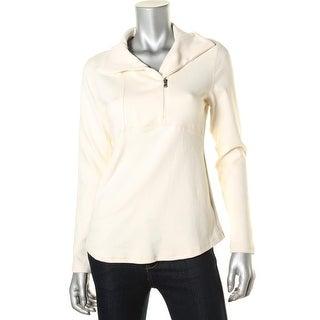 American Living Womens Asymmetric 1/4 Zip 1/4 Zip Pullover
