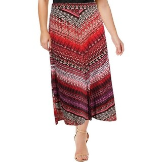 NY Collection Womens Petites Maxi Skirt Printed Matte Jersey - pxl
