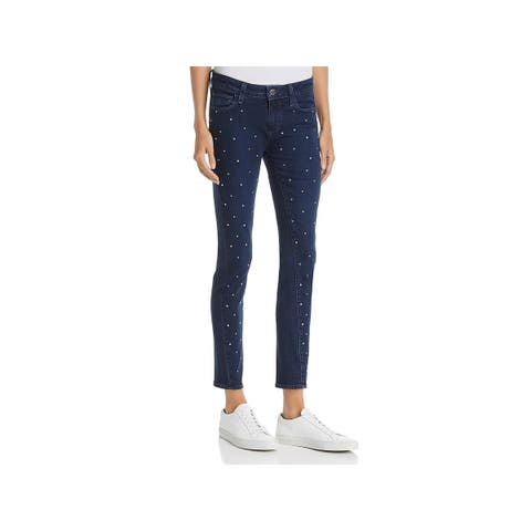 Paige Womens Verdugo Skinny Jeans Embellished Mid-Rise
