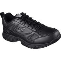 Skechers Men's Work Relaxed Fit Dighton Slip Resistant Sneaker Black
