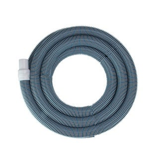 """Spiral Wound Vacuum Swimming Pool Hose with Swivel Cuff - 18' x 1.25"""" - Blue"""