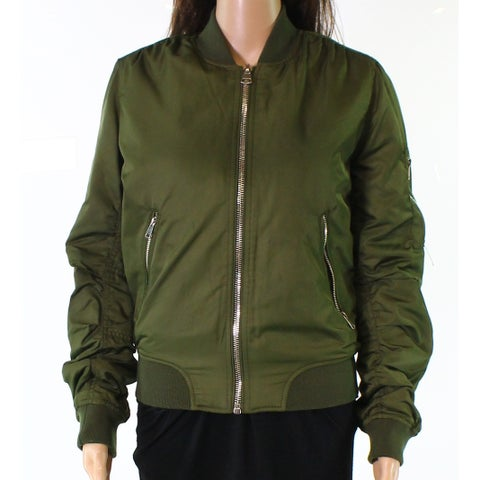TopShop Military Women's Full-Zip Bomber Jacket