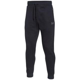 Under Armour NEW Black Mens Size Small S Drawstring Soho Fleece Pants